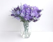 SALE/Assorted Violet Silk Foral Arrangement Violet Lavender & Purple
