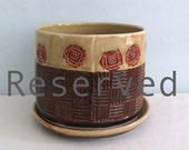 Plant Pot with Dish  - Reserved