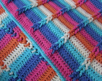 Bright Rainbow Baby Blanket // Baby Shower Gift // Baby Girl // Vintage Inspired