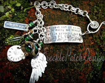 Personalized Argentium Sterling Silver Bracelet, 100% handmade, Custom,Price is Approx.