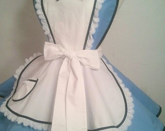 Plus Size Alice Costume Apron, Wonderland, Cosplay, Disneybound, Woman's Apron