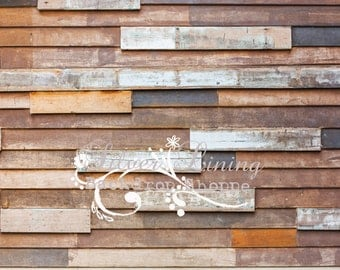 8'x10' Vinyl Photography Backdrop / Eclectic Wood 100 / Large Photo Prop