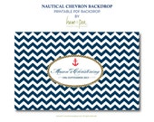Nautical Chevron feature backdrop