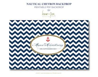 Nautical Chevron feature backdrop