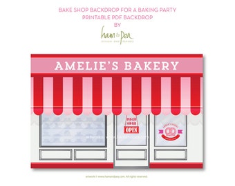 Bake Shop Backdrop for a Baking Party
