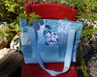 quilted cotton tote / beach bag