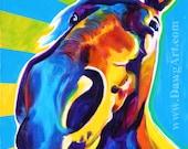 Horse, DawgArt, Horse Art, Horse Painting, Southwestern Art, Equestrian Art, Colorful Horse Art, Original Painting