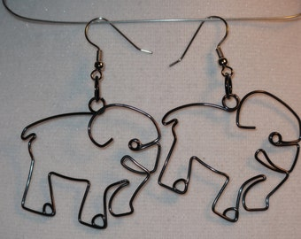 Wire Wrapped Elephant MADE to ORDER Earrings