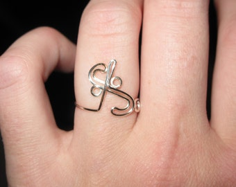 Wire Wrapped Segno MADE to ORDER Adjustable Ring