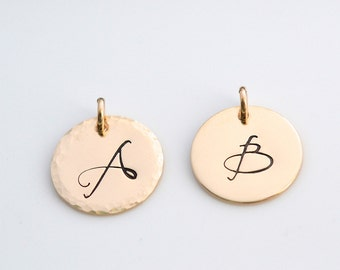 Add on Initial charms, Initial Charm, Personalized Initial, Gold Fill Charm, Gold Fill Initial