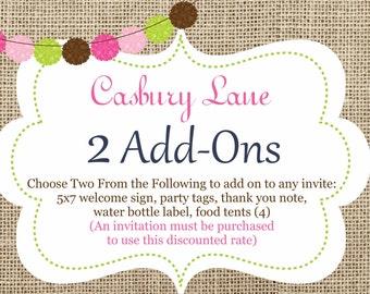 Casbury Lane Add-Ons