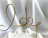 I Do Cake Topper, Rustic Chic Decor, Ship Ready