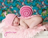 Little Girl Pink Snail Hat and Body Cover Newborn Photography Prop