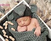 Elephant beanie hat newborn photography prop newborn thru 6 months available