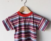 80s SURF kids boy shirt STRIPED children top