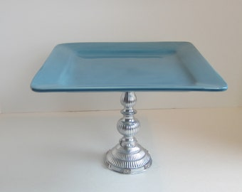 UPCYCLED BLUE Serving PLATE