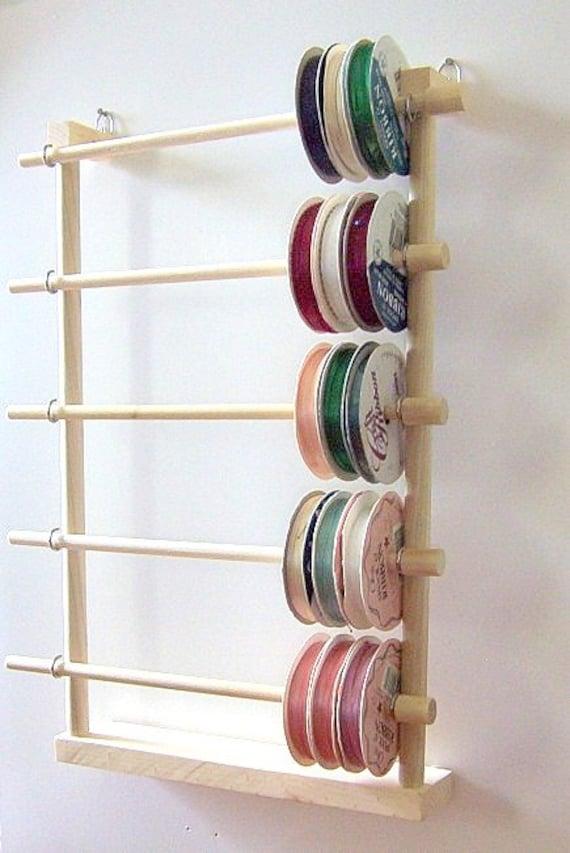 Hanging Ribbon Holder Storage Rack Organizer By Designsbyduane