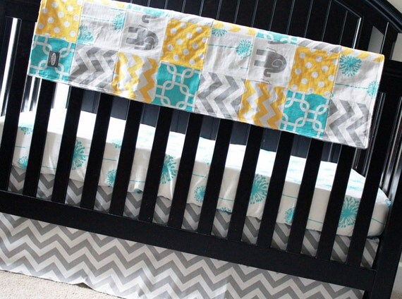 Items Similar To Custom Crib Bedding Yellow Grey And