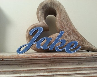 Personalised Wooden Name Sign - For Doors, Walls, Etc