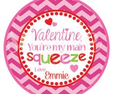 NEW -PRINTABLE  Valentine, You're My Main Squeeze Favor Tags