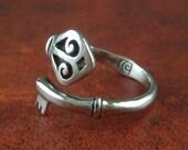 Key Ring - White Bronze Key Ring - Silver Key Ring