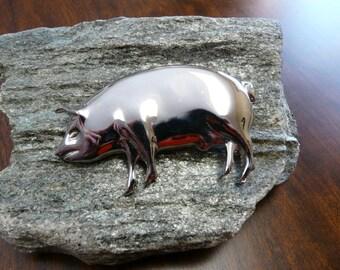 Silvertone Pig Pin