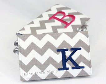 Personalized Business card holder, Custom made Business card holder, Chevron Card Holder