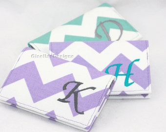 Personalized Business card holder, Chevron Business card holder, Custom made Gift idea