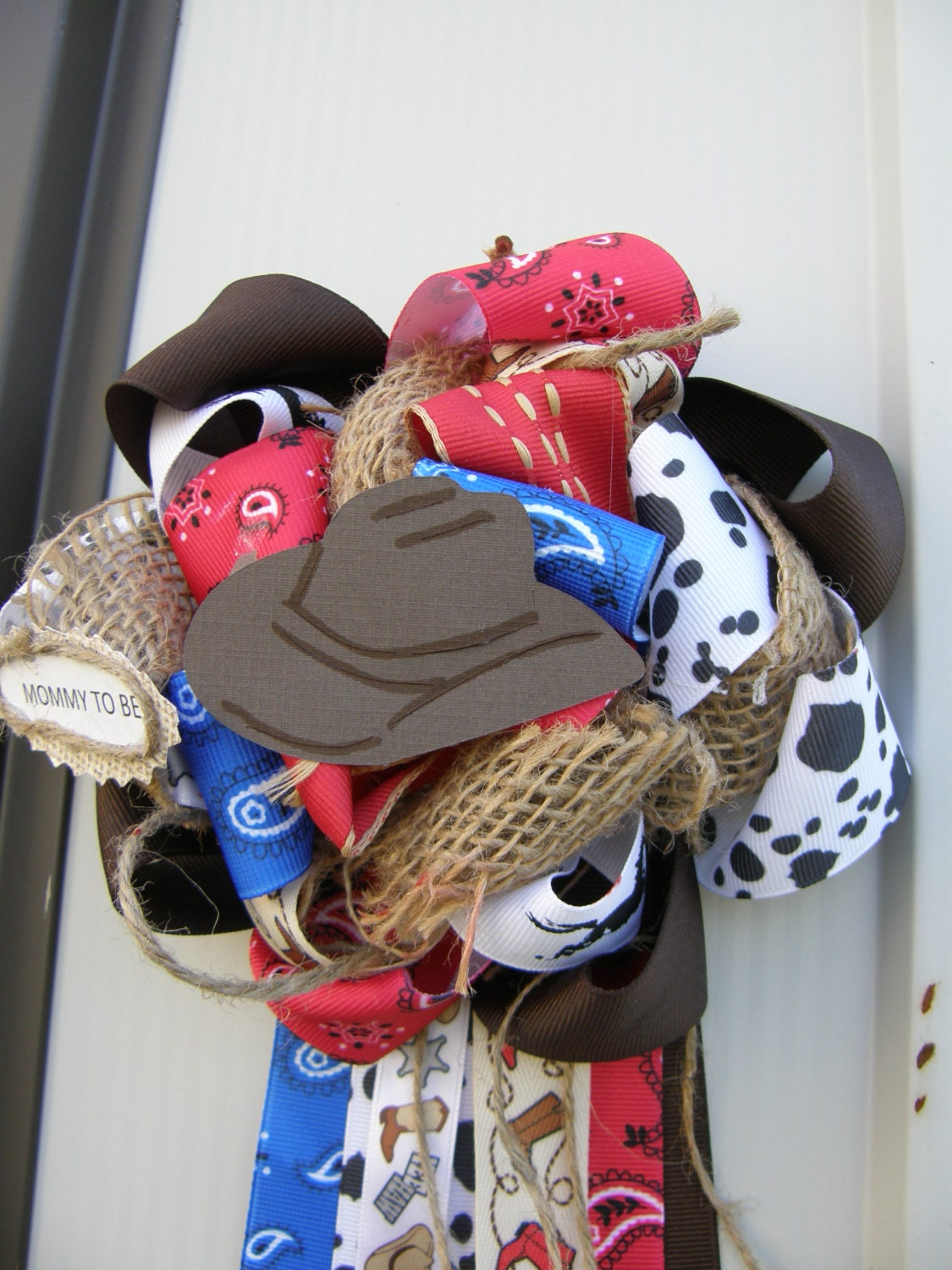 extra full western corsage cowboy baby shower western by bonbow
