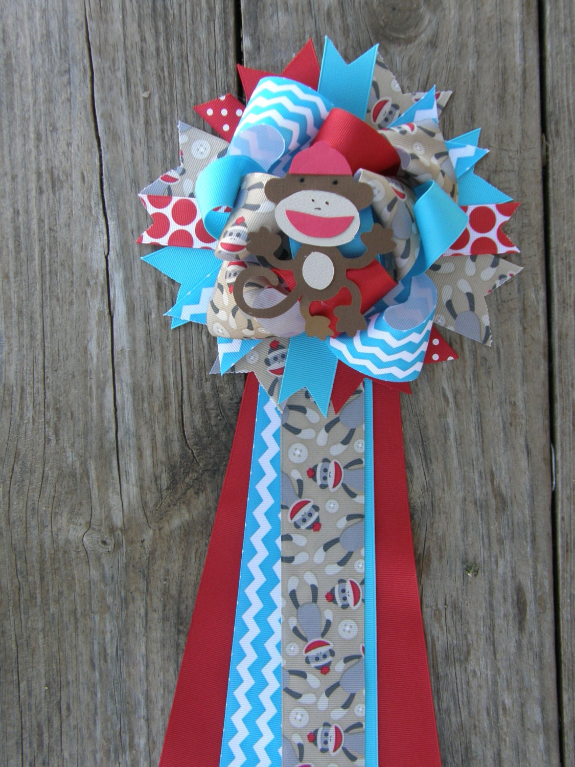 sock monkey baby shower monkey sock by bonbow on etsy