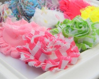 Chiffon Flower Hair Clips - Party Favors