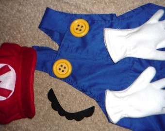 SuPeR  Mario Bros. costume  Sz  4 to 12 years CUSTOM by ORDER