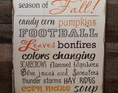 Large Wood Sign - It's the Best Season of FALL - Subway Sign