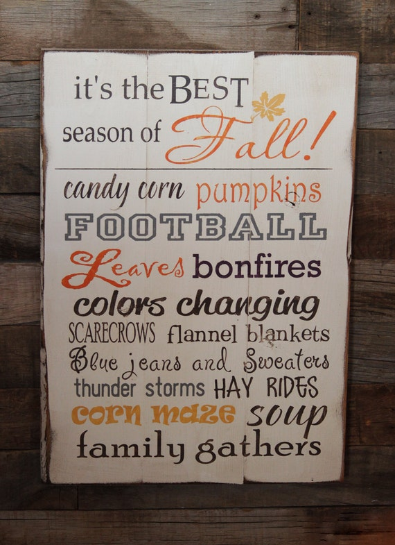 Large Wood Sign It 39 S The Best Season Of Fall By Dustinshelves