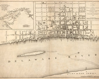 1776 Map of  Philadelphia