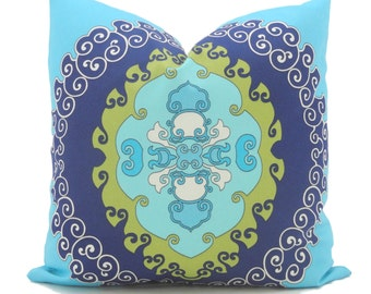 Trina Turk Super Paradise Indoor Outdoor Decorative Pillow Cover, Schumacher, 18x18, 20x20 or 22x22