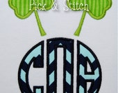 Shamrock Monogram Topper Applique Design Machine Embroidery INSTANT DOWNLOAD