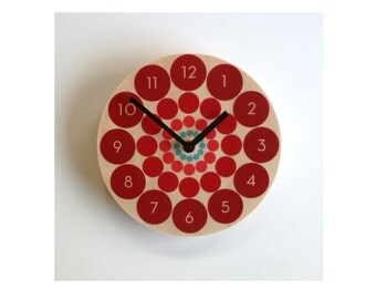 """Objectify """"Spin"""" Wall Clock with Numerals"""