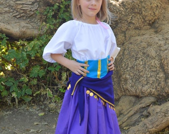 Esmeralda Costume Dress set for Girls