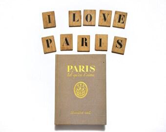 Vintage french decorative book  Paris 1952s Home decor Shabby chic