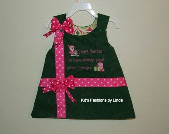 Reversible Christmas/Monogram Dress