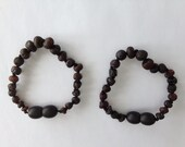 Raw Baltic Amber Teething changeable bracelets, necklace, anklet - Midnight black