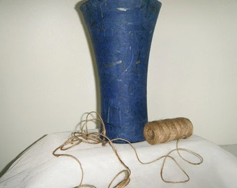 Blue Mulberry Paper Vase