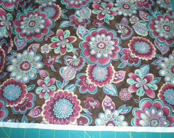 06830 -  Malone Textiles - Fall Floral -  1 yard
