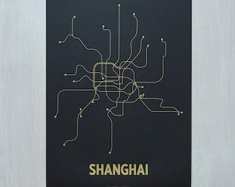 Shanghai Screen Print - Black/Gold