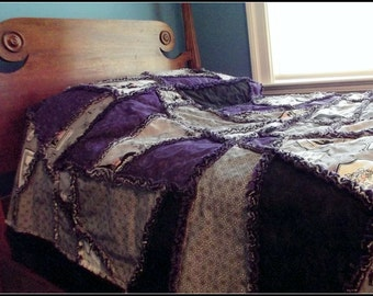 Ghastlie Halloween Crazy Quilt Pattern, Twin Bed Size