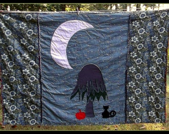 Moonlight on the Weeping Willow Tree Quilt Pattern