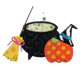 Halloween Witches Brew Embroidery Design Machine Applique