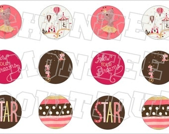 Made to Match Gymboree M2MG Star of the Show bottlecap image sheet