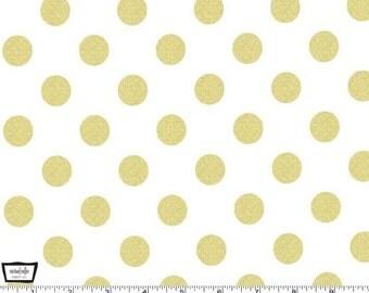 Glitz - Quarter Dot Pearlized gold - 100% cotton print metallic from Michael Miller